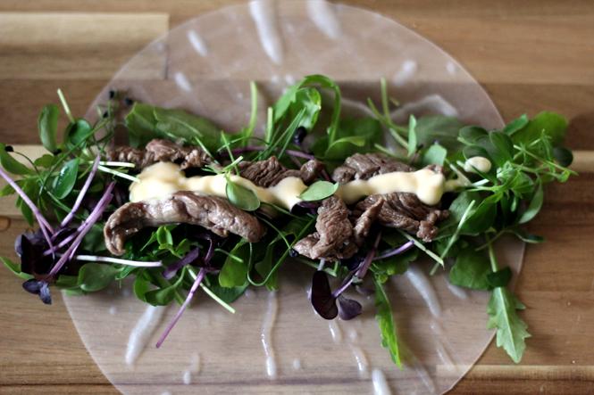 Gesund, leicht und etwas fürs Auge: Steak-Kresse-Röllchen / Mo'Beads / Monika Thiede